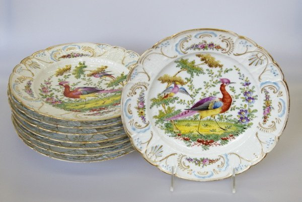 22: Edme Samson, Paris, Porcelain Dinner Plates