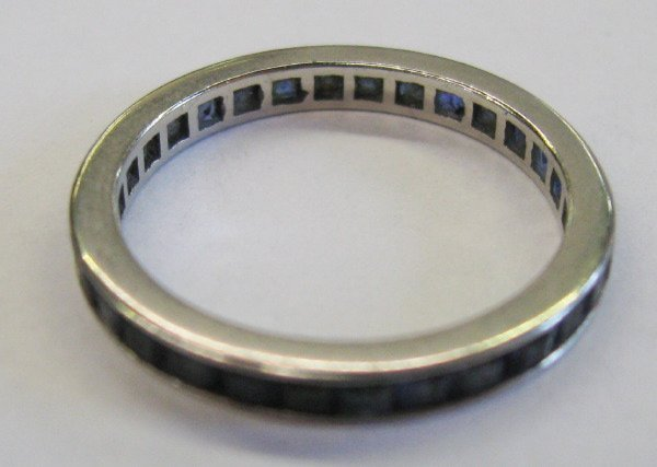 768: White Gold and Sapphire Eternity Band