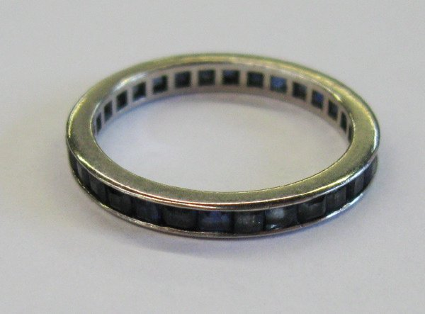 770: White Gold and Sapphire Eternity Band