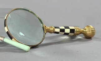 6: Anglo-Indian Brass Desk Magnifier