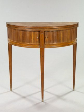 21: Hepplewhite-Style Mahogany Demi-lune Games Table