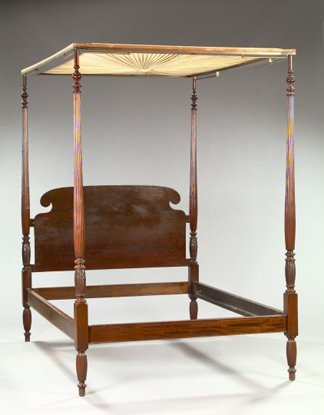 23: Late George III-Style Mahogany Tester Bed,