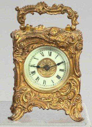 755: Fine Ansonia Gilt-Bronze Carriage Clock,