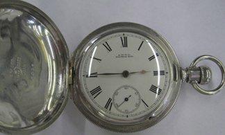 766: Waltham Coin Silver Hunt Case Pocket Watch