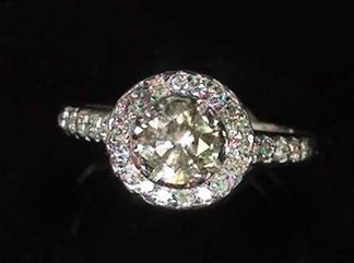 769: White Gold and Diamond Engagement Ring