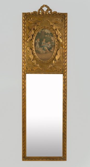 2: Belle Epoque Carved Giltwood Looking Glass,