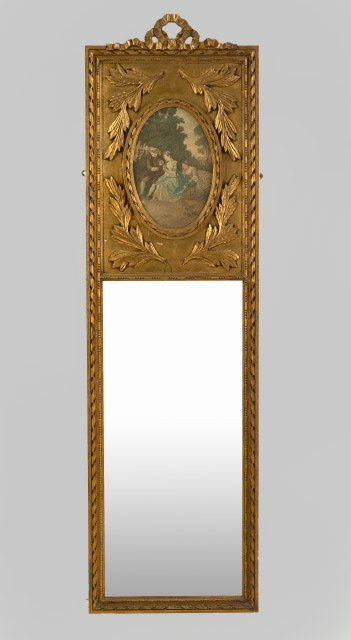 3: Belle Epoque Carved Giltwood Looking Glass,