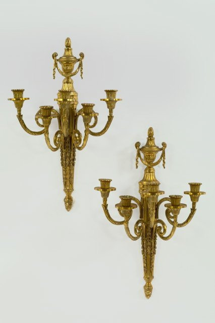 13: French Gilded and Antiqued Brass Appliques