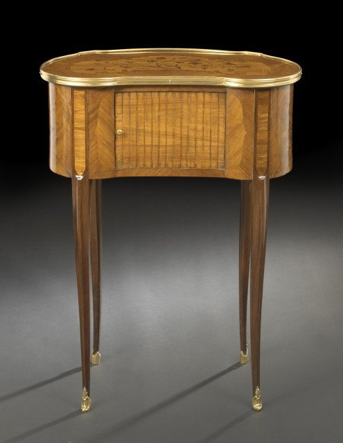 14: Louis XV-Style Kignwood and Rosewood Table
