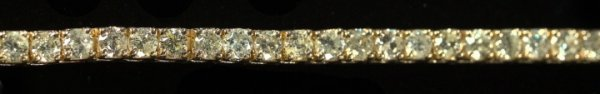 794: Yellow Gold and Diamond Tennis Bracelet