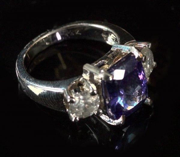 799: White Gold, Tanzanite and Diamond Ring
