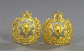 Pr. of Repro. British Guards Regiment Helmet Plat