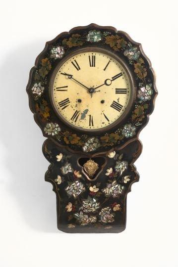 4: Napoleon III Papier-Mache and Wood Wall Clock
