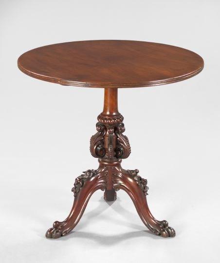 7: Victorian Mahogany Circular Tea Table,