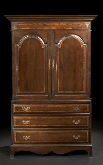9: George III-Style Oak Linen Press,