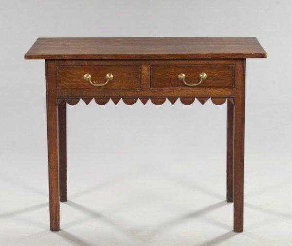 10: George III-Style Oak Library Table,