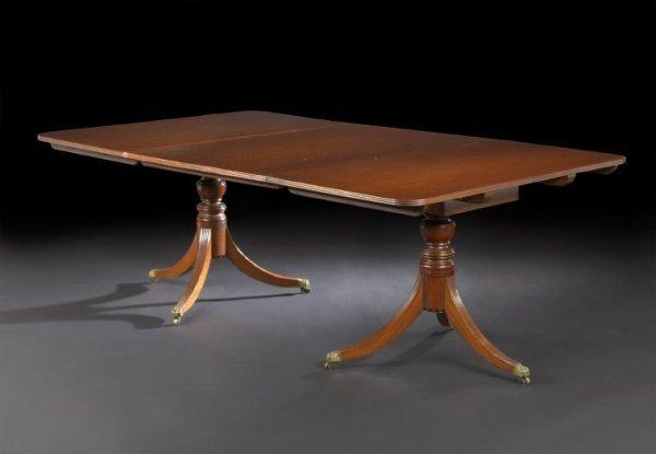 13: George III-Style Mahogany Dining Table,