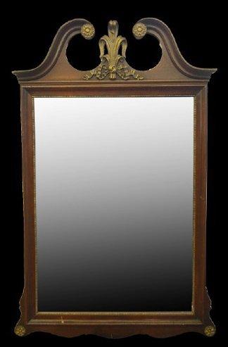 19: George III-Style Parcel-Gilt Mahogany Mirror