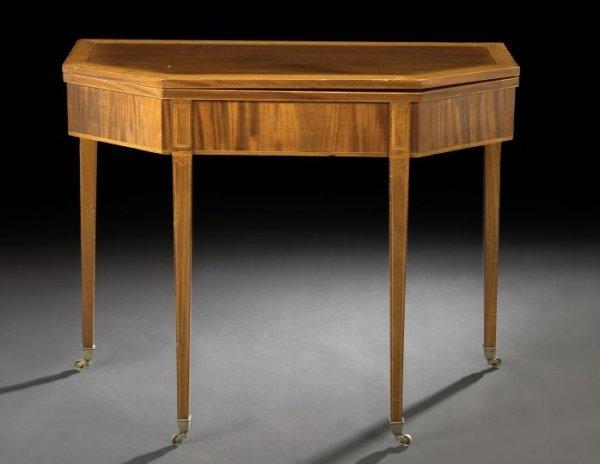 22: George III Mahogany Games Table,