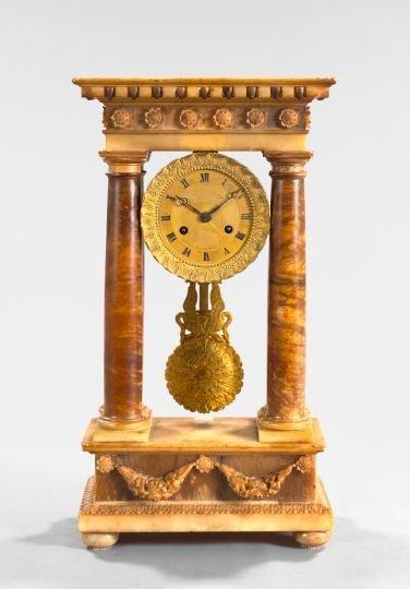 165: Louis-Philippe Onyx Mantle Clock