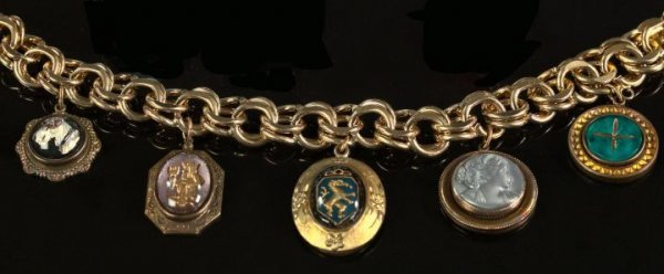 710: Yellow Gold-Filled Charm Bracelet