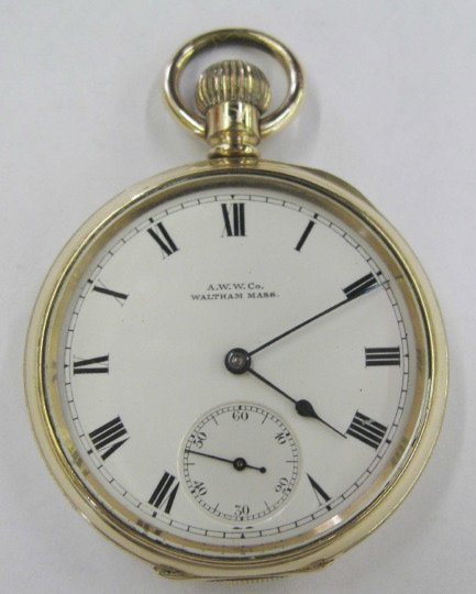 723: Waltham Rolled Gold Open-Faced Pocket Watch,