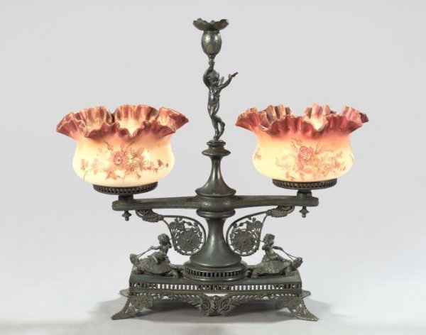 1036: Fine Pairpoint Silverplate Epergne,