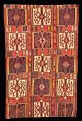 1140: Antique Caucasian Kuba Kilim Carpet,