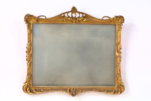 2: French Giltwood and Plaster Overmantel Mirror