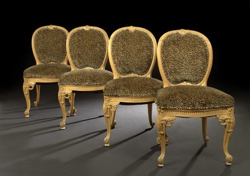 6: Continental Carved Beechwood Sidechairs