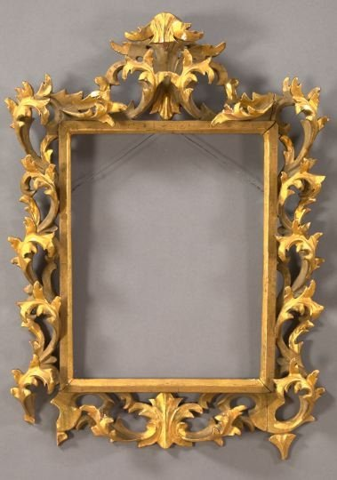 8: Florentine Elaborately Carved Giltwood Frame,
