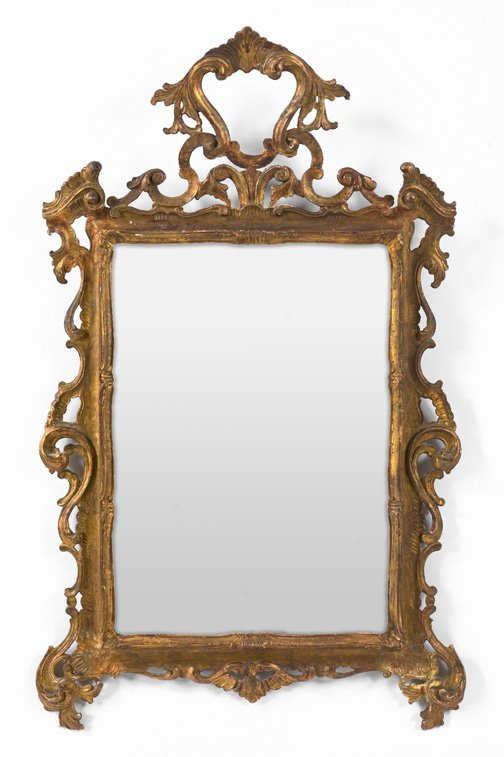 10: Northern Italian Carved Giltwood Mirror