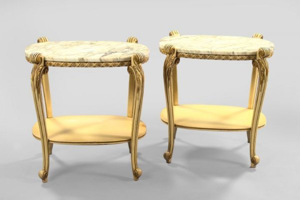 13: Polychromed and Marble-Top Occasional Tables