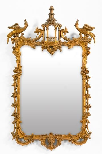 448: Large and Attractive Carved Giltwood Mirror