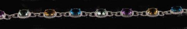 823: Gold, Multi-Gemstone and Diamond Bracelet