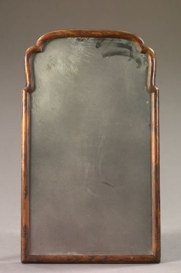 2: Early Georgian Richly Grained Walnut Mirror