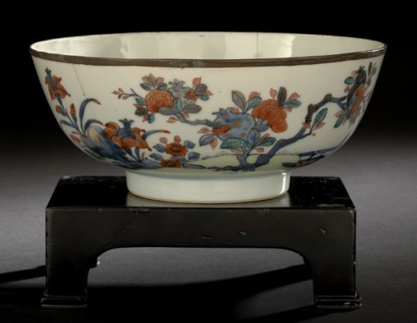 "6: Chinese Export ""Imari"" Porcelain Punch Bowl,"