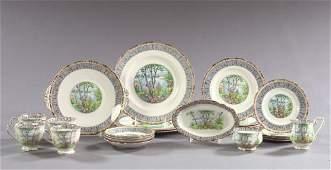 89: Staffordshire, Bone Porcelain Partial Dinner Servic