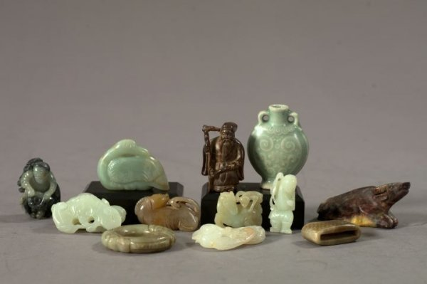 650: Collection of Twelve Carved Miniatures,