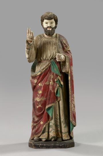 753: Italian Carved Wooden Figure