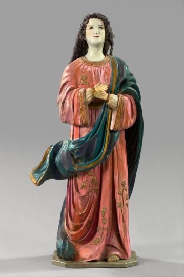 754: Italian Carved Wooden Figure