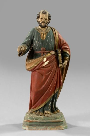 755: Italian Carved Wooden Figure
