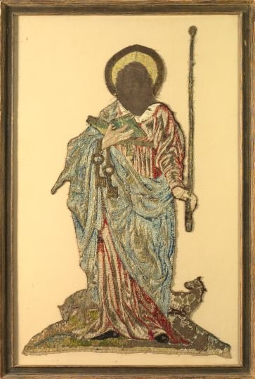 765: Italian Embroidered and Appliqued Figure