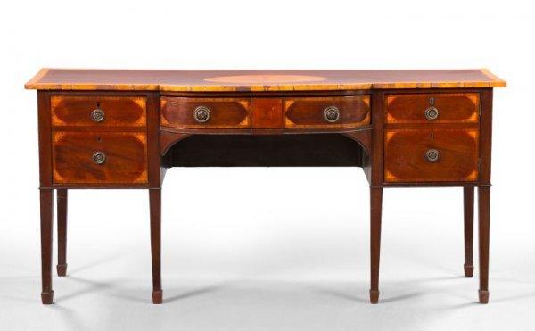1: George III-Style Mahogany Sideboard,