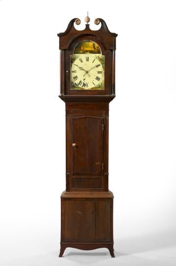 7: George III Mahogany Tall Case Clock,