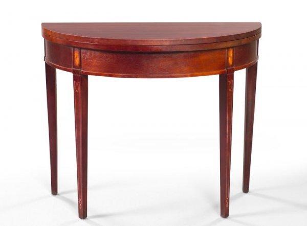 8: George III-Style Mahogany Games Table