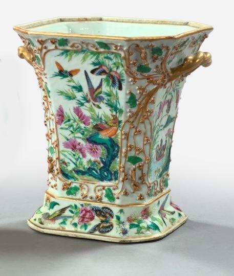 17: Good French Porcelain Two-Handled Vase,