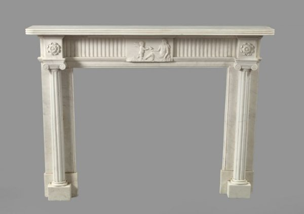 19: Good Carrara Marble Fireplace Surround,