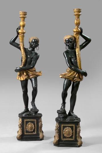 237: Pair of Italian Cast-Brass Figures