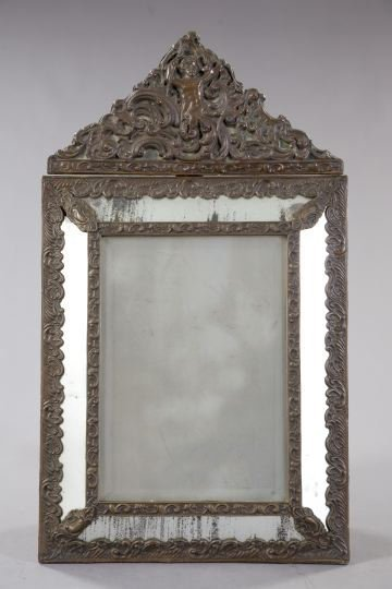 2: Dutch Bronze-Patinated Brass Mirror